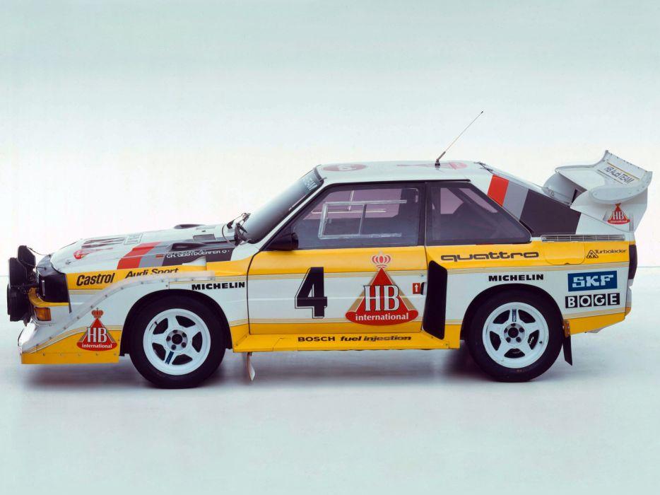 1985 Audi Sport quattro S-1 Group-B Rally race racing   f wallpaper