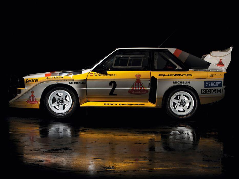 1985 Audi Sport quattro S-1 Group-B Rally race racing  d wallpaper