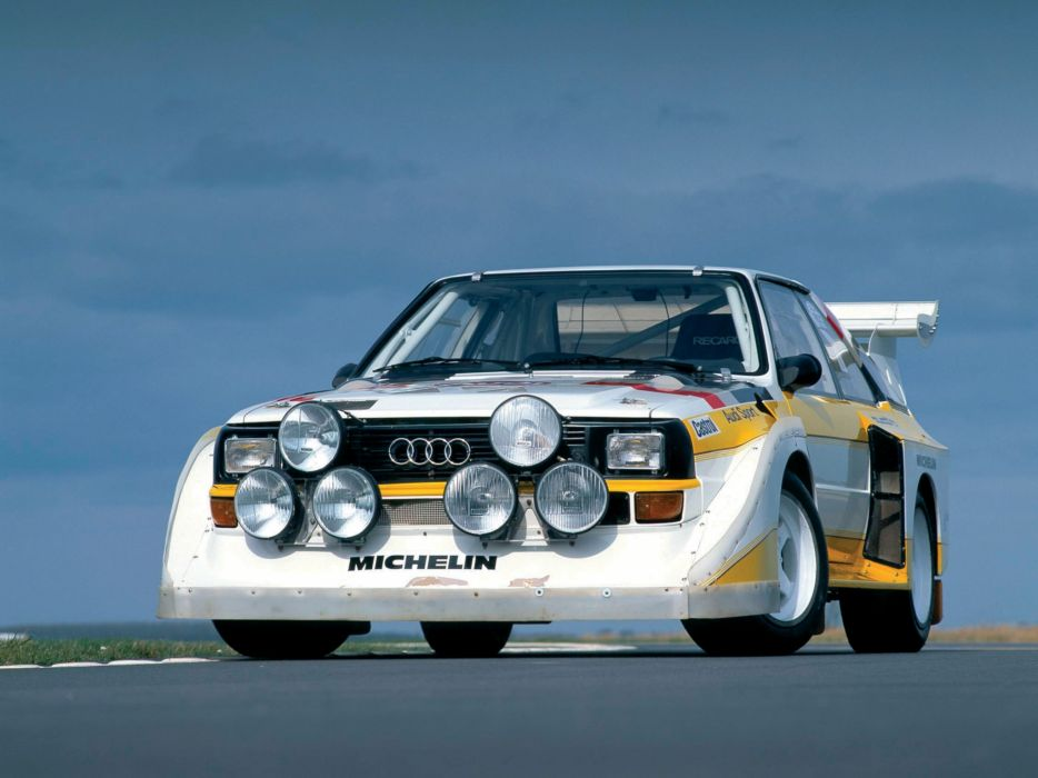1985 Audi Sport quattro S-1 Group-B Rally race racing   f wallpaper