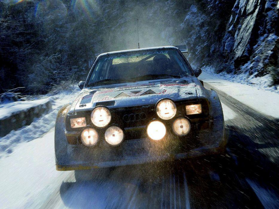 1985 Audi Sport quattro S-1 Group-B Rally race racing winter snow wallpaper