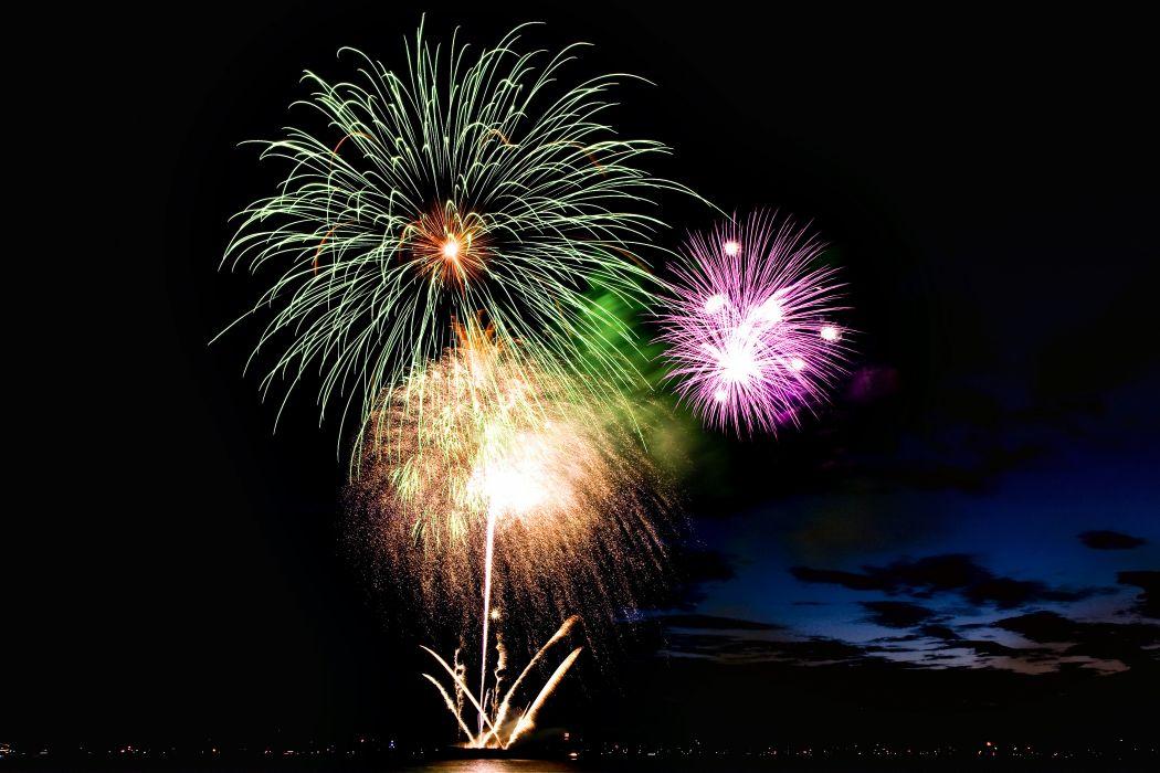 fireworks night nice black wallpaper