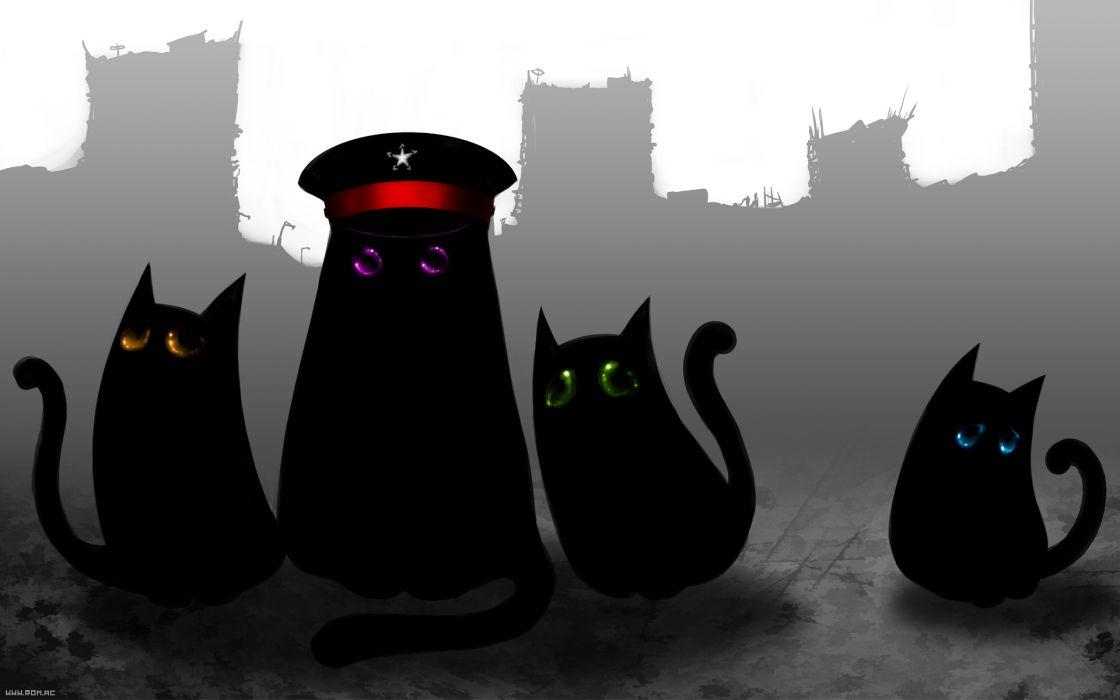 Romantically Apocalyptic Cats Hat Fantasy sci-fi comics wallpaper