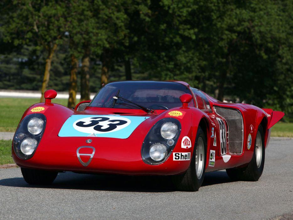 1968 Alfa Romeo Tipo 33-2 Daytona classic race racing le-mans    j wallpaper
