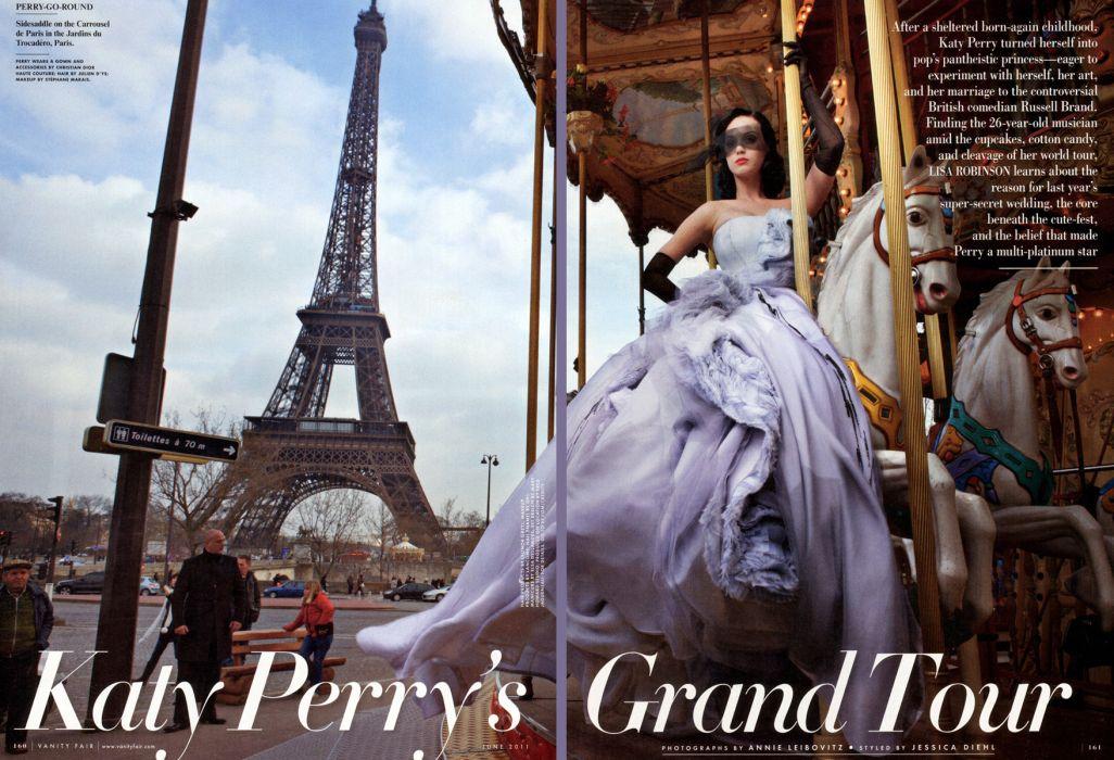 Katy Perry pop singer actress girl brunette paris eiffel tower france wallpaper