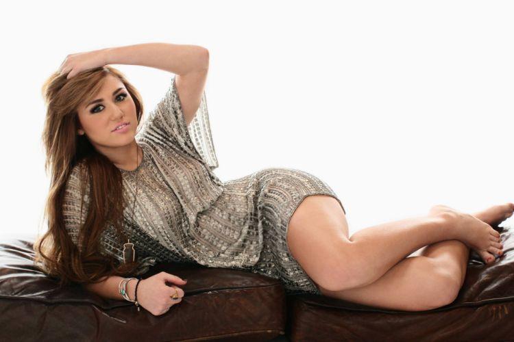 Miley Cyrus singer pop celebrity actress sexy babe brunette t wallpaper