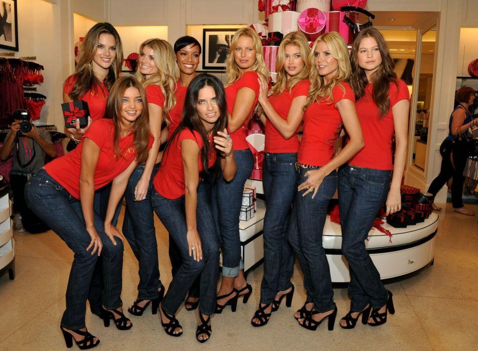Victorias Secret model women sexy babe blonde brunette fashion   kl wallpaper