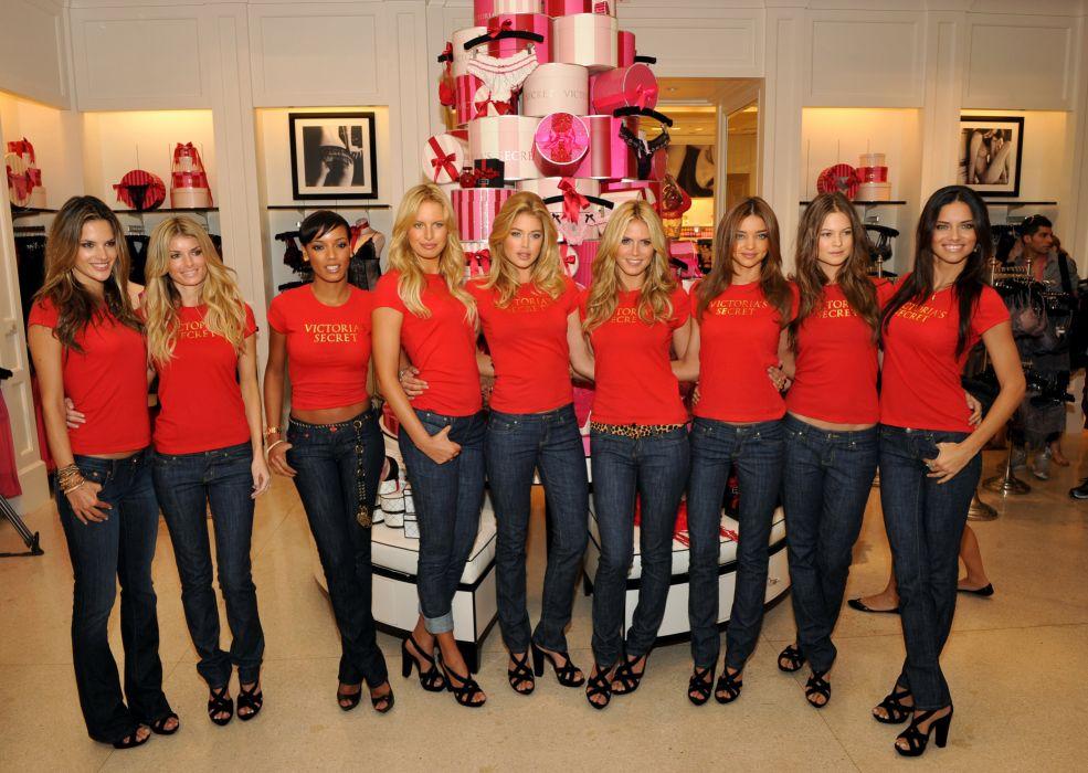 Victorias Secret model women sexy babe blonde brunette fashion  t wallpaper