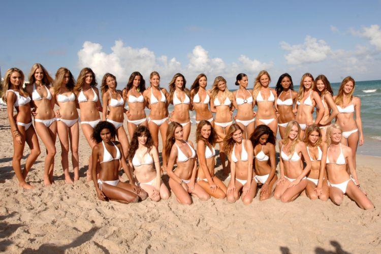 Victorias Secret model women sexy babes blonde brunette fashion wallpaper