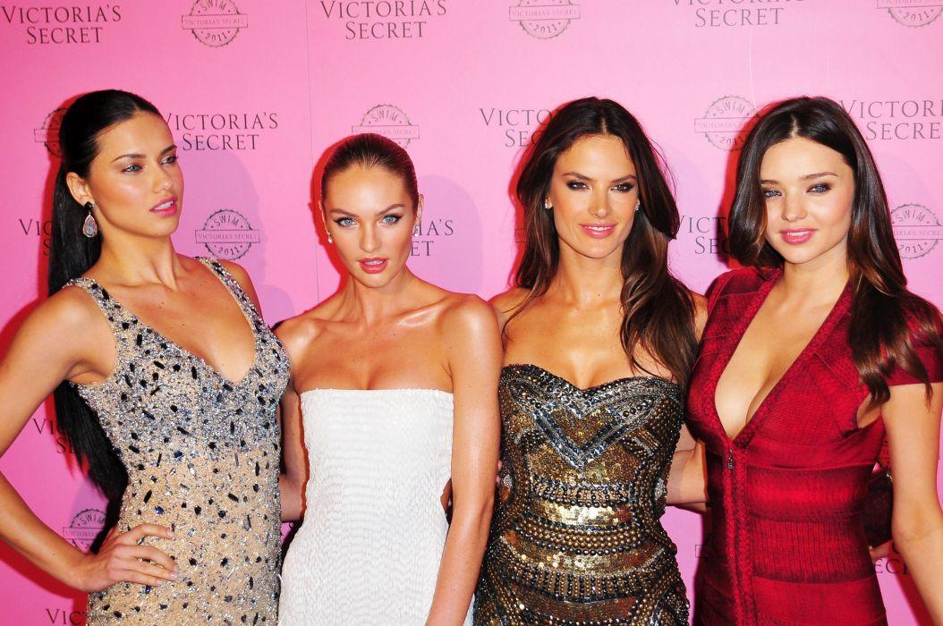 Victorias Secret model women sexy babes brunette fashion   j wallpaper