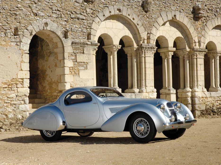 1938 Talbot Lago T23 Teardrop Coupe Figoni Falaschi retro      b wallpaper