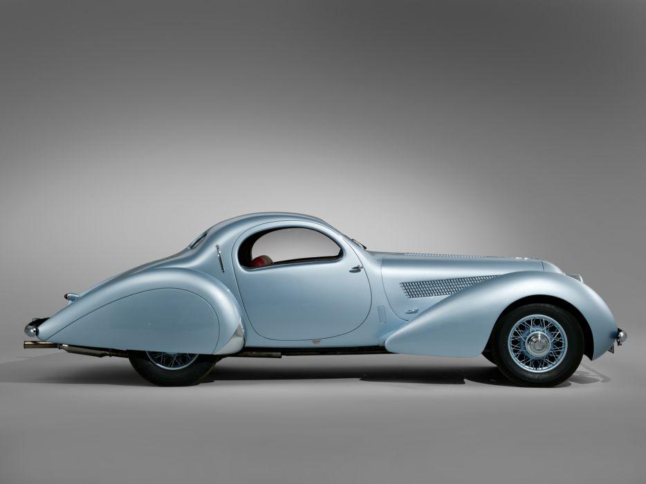 1938 Talbot Lago T23 Teardrop Coupe Figoni Falaschi retro  gf wallpaper
