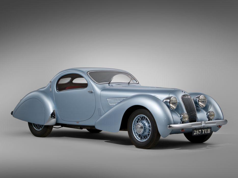 1938 Talbot Lago T23 Teardrop Coupe Figoni Falaschi retro wallpaper