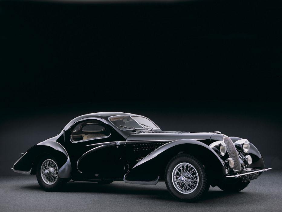 1938 Talbot Lago T150 C Teardrop Coupe Figoni Falaschi retro    h wallpaper