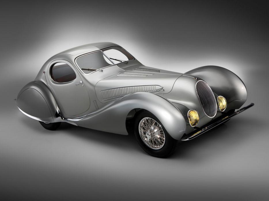 1938 Talbot Lago T150C S-S Figoni Falaschi retro wallpaper