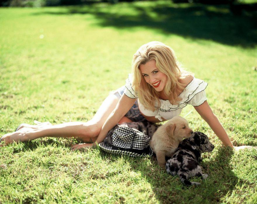 Jenny McCarthy actress model blonde sexy babe     f wallpaper