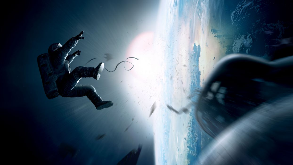 GRAVITY movie sci-fi space wallpaper
