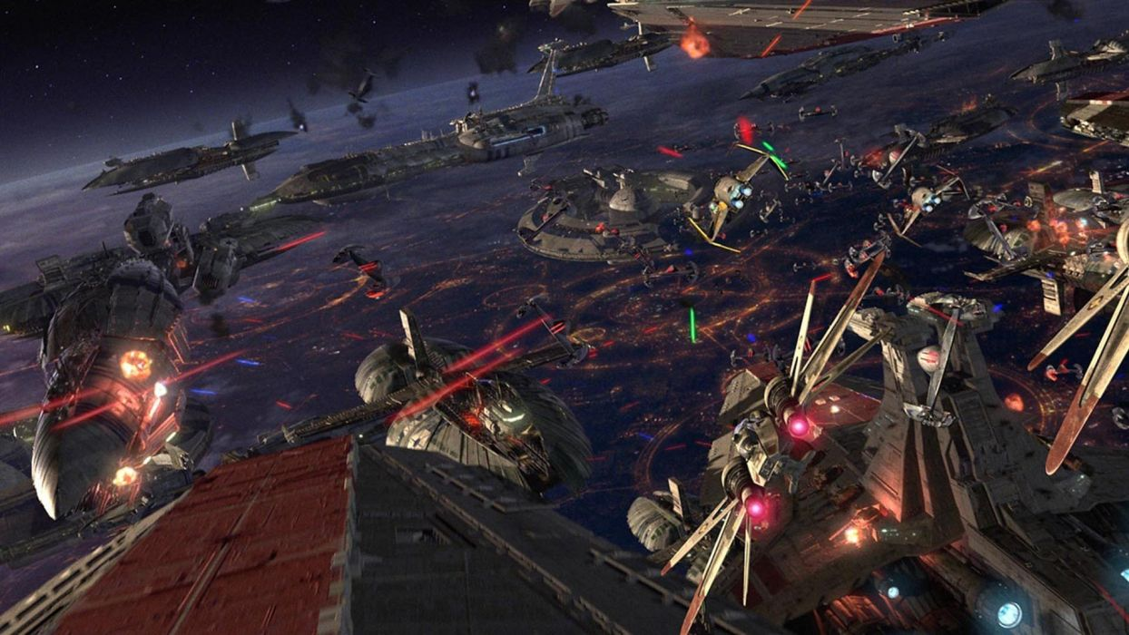 Star Wars Episode III Revenge of the Sith sci-fi battle spaceship space wallpaper