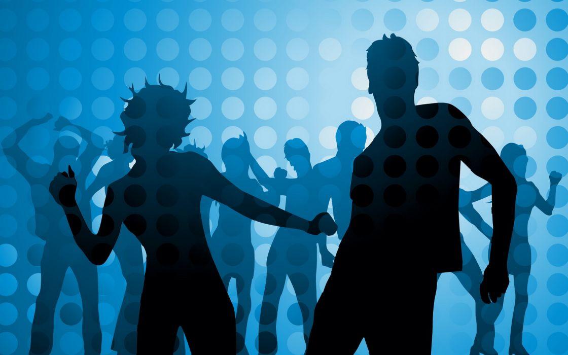 Dance Shadows Girl Boy wallpaper