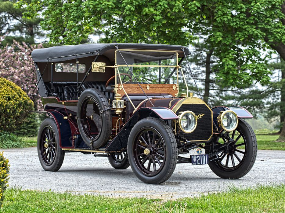 1910 Pierce Arrow Model-48 Touring retro   h wallpaper