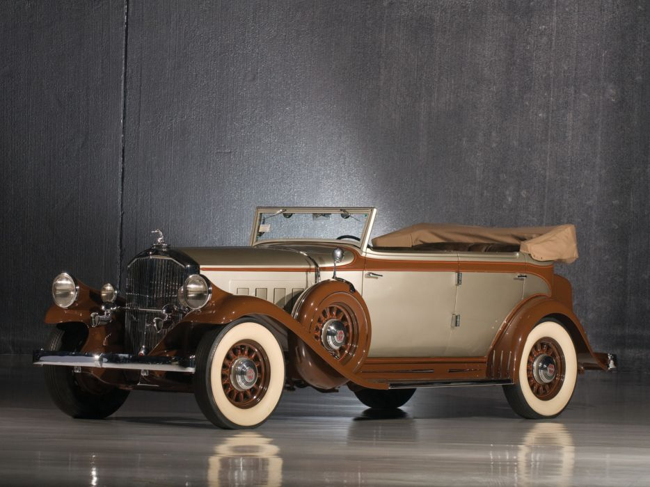 1932 Pierce Arrow Model-54 Convertible Sedan retro luxury  gd wallpaper