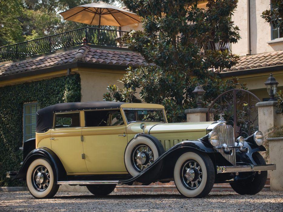 1932 Pierce Arrow Model-54 Convertible Sedan retro luxury g wallpaper