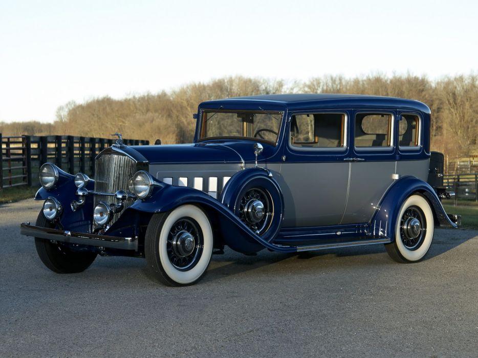 1932 Pierce Arrow Twelve Model-53 Touring Sedan retro luxury          h wallpaper