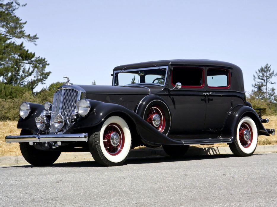 1933 Pierce Arrow Twelve Club Sedan Model-1236 retro luxury wallpaper