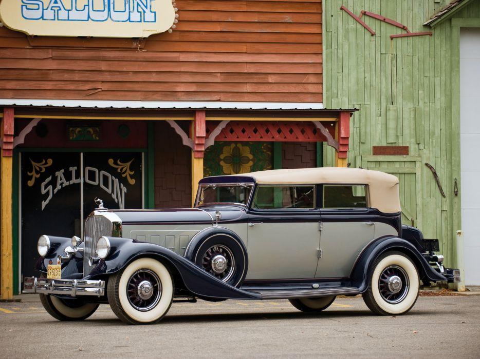 1933 Pierce Arrow Twelve Convertible Sedan Model-1242 retro luxury wallpaper