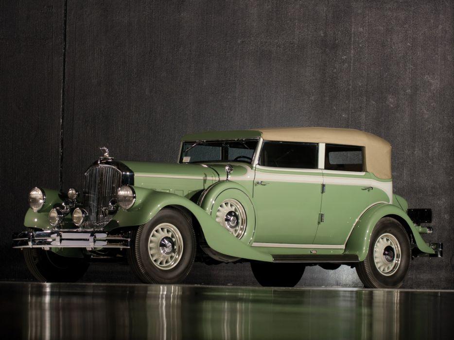 1933 Pierce Arrow Twelve Convertible Sedan Model-1242 retro luxury   h wallpaper