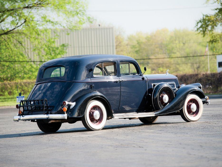1934 Pierce Arrow Model-836A 4-door Sedan retro     g wallpaper