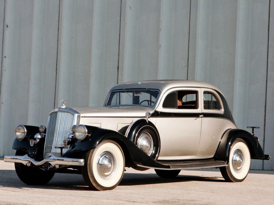 1934 Pierce Arrow Silver Arrow Coupe Model-840A retro luxury  c wallpaper