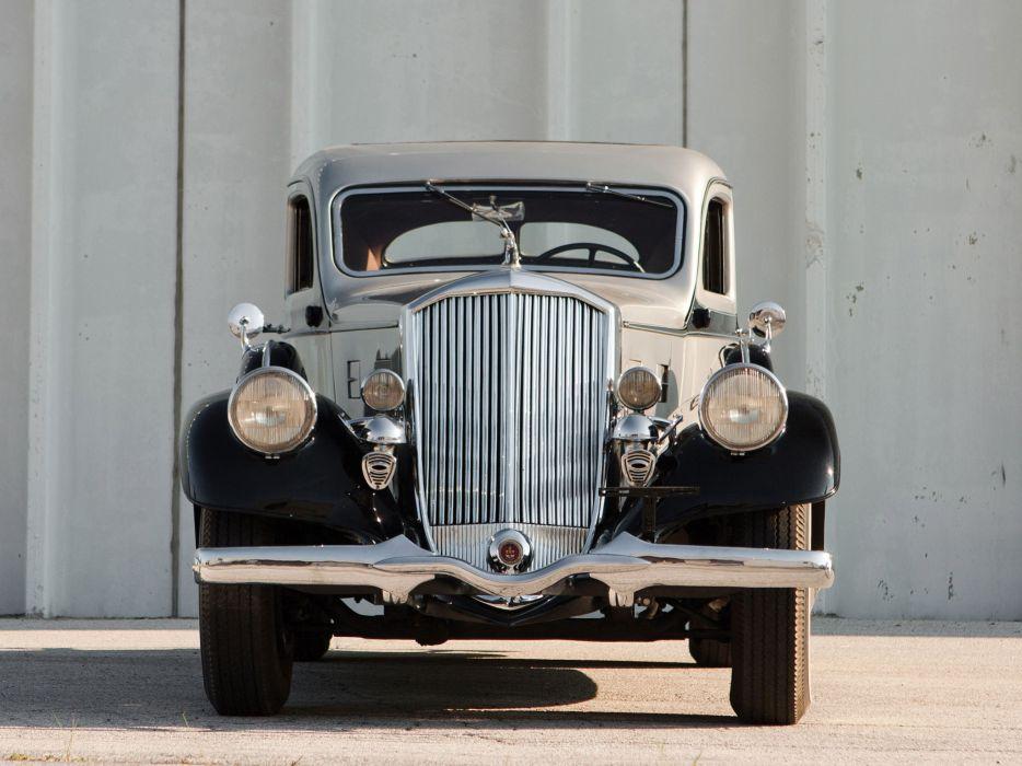 1934 Pierce Arrow Silver Arrow Coupe Model-840A retro luxury  gs wallpaper