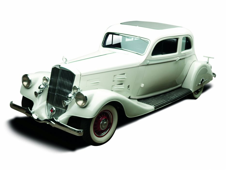 1934 Pierce Arrow Silver Arrow Coupe Model-840A retro luxury wallpaper