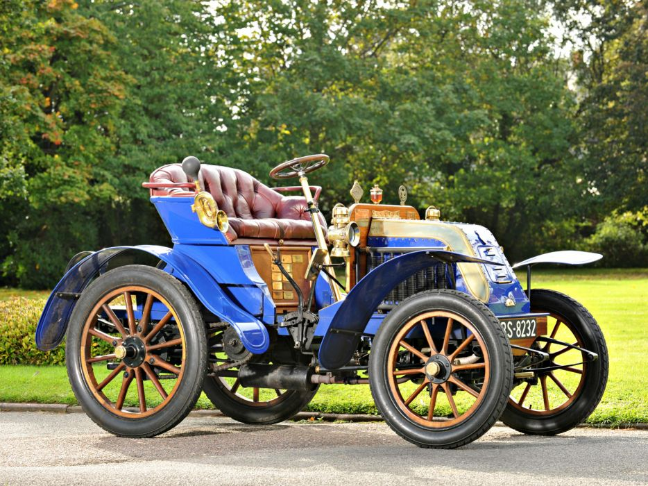 1902 Deckert 8-HP 2-seater retro wallpaper