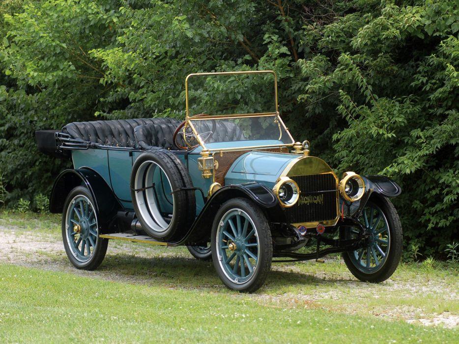 1911 Michigan Model-40K Five-Passenger Touring retro wallpaper