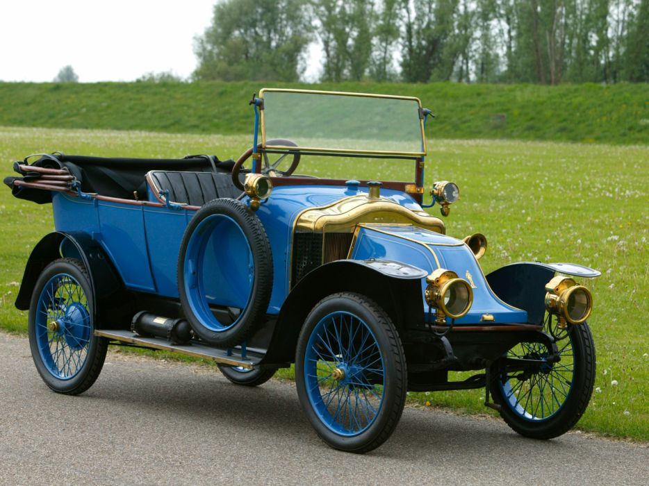 1913 Clement Bayard Type-CB1 12-HP Tourer retro wallpaper