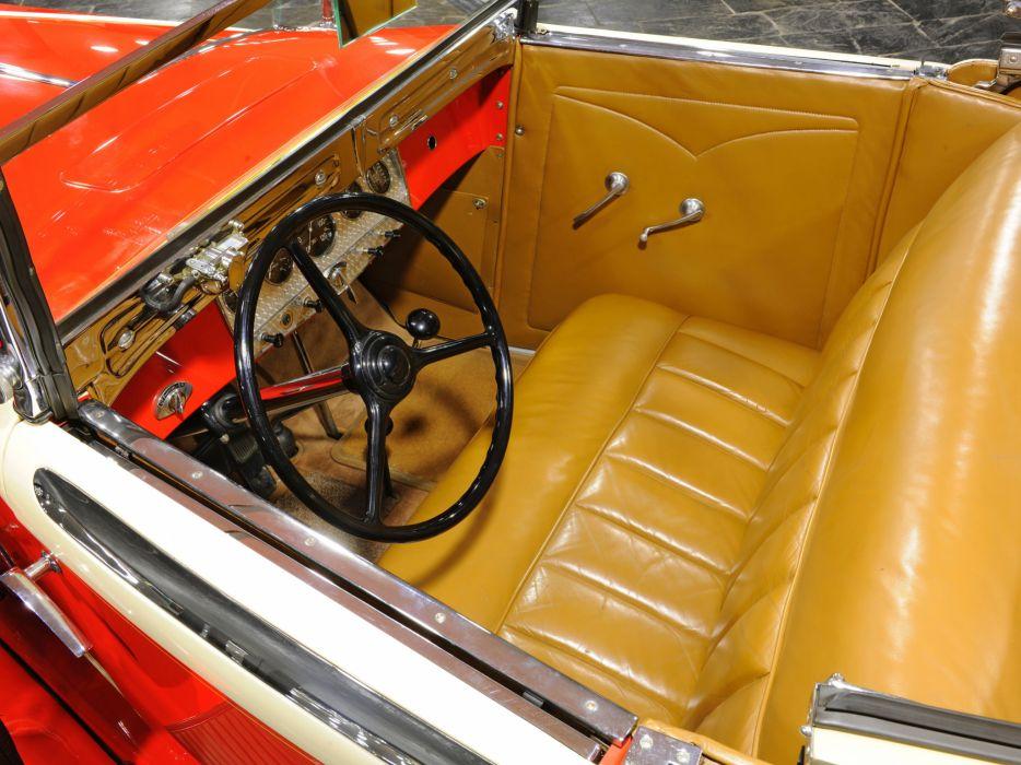 1932 Auburn V12 161 Convertible Coupe luxury retro interior     r wallpaper