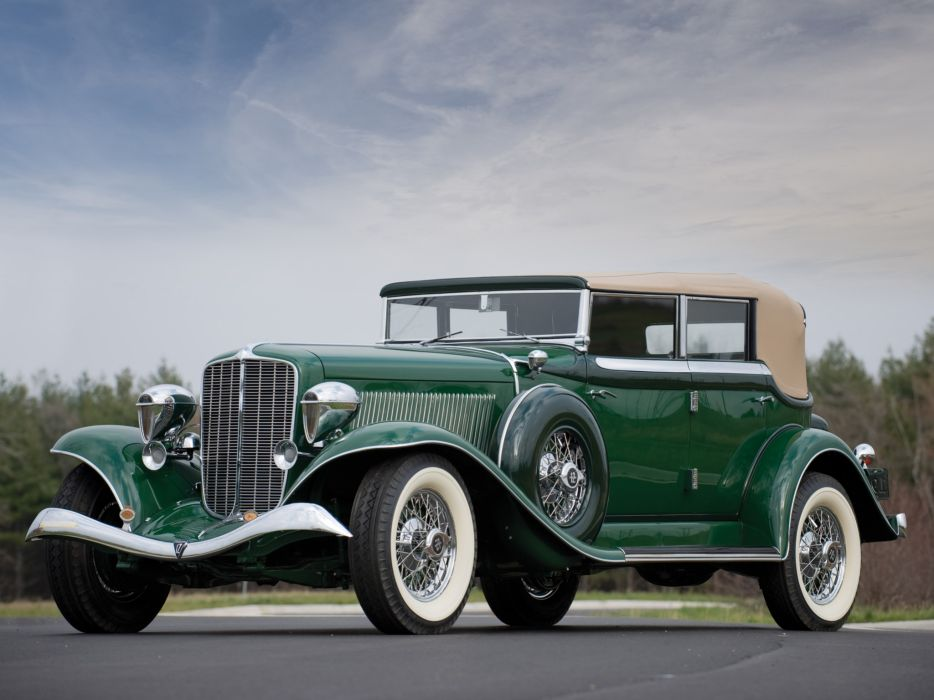 1934 Auburn Twelve Phaeton Sedan 1250 luxury retro wallpaper