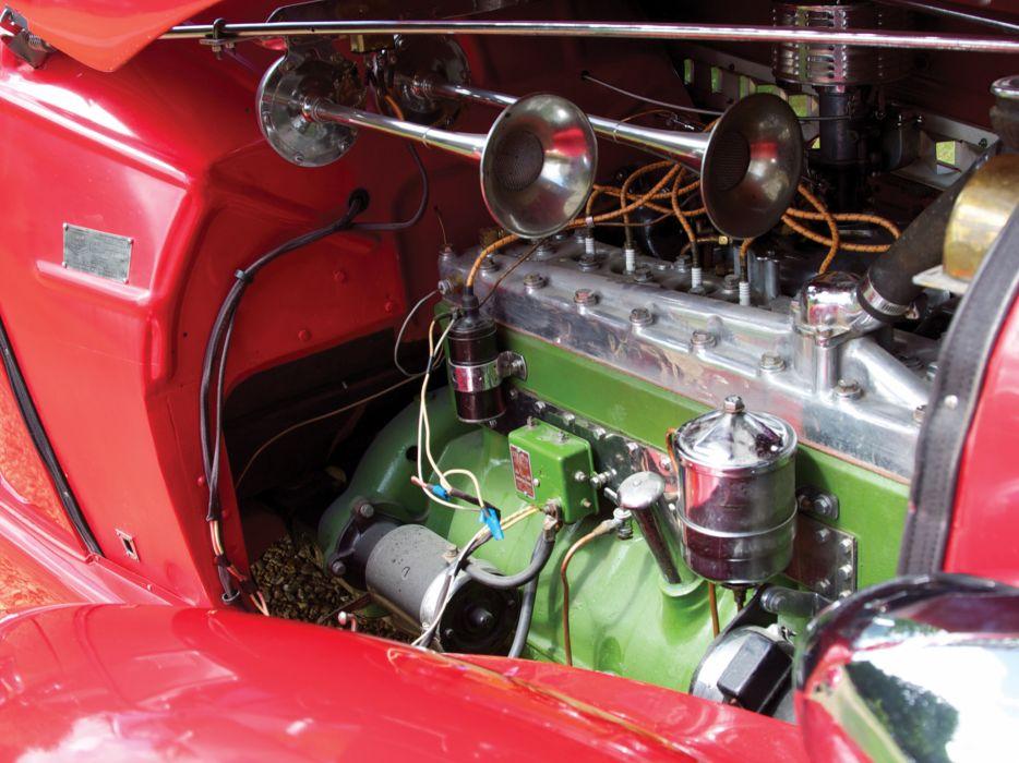 1935 Auburn 851 S-C Speedster retro engine        hh wallpaper