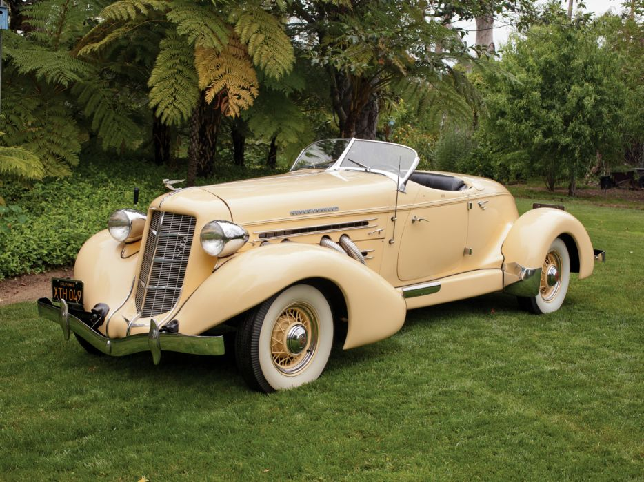 1935 Auburn 851 S-C Speedster retro wallpaper