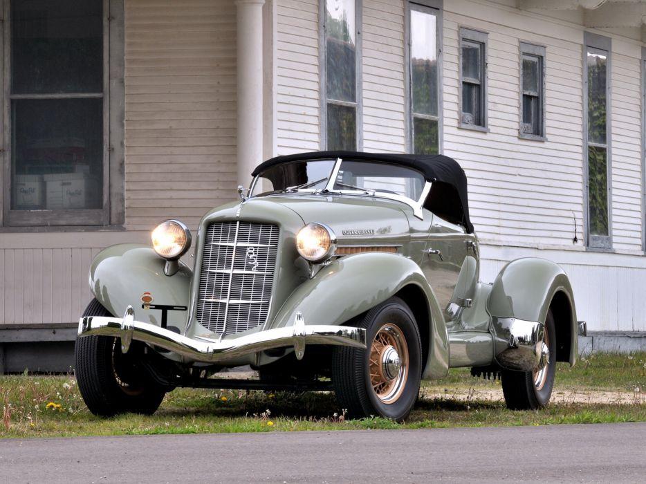 1936 Auburn 852 S-C Speedster retro wallpaper