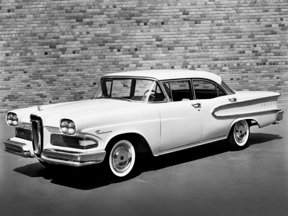 1958 Edsel Ranger 4-door Sedan 58A retro         g wallpaper
