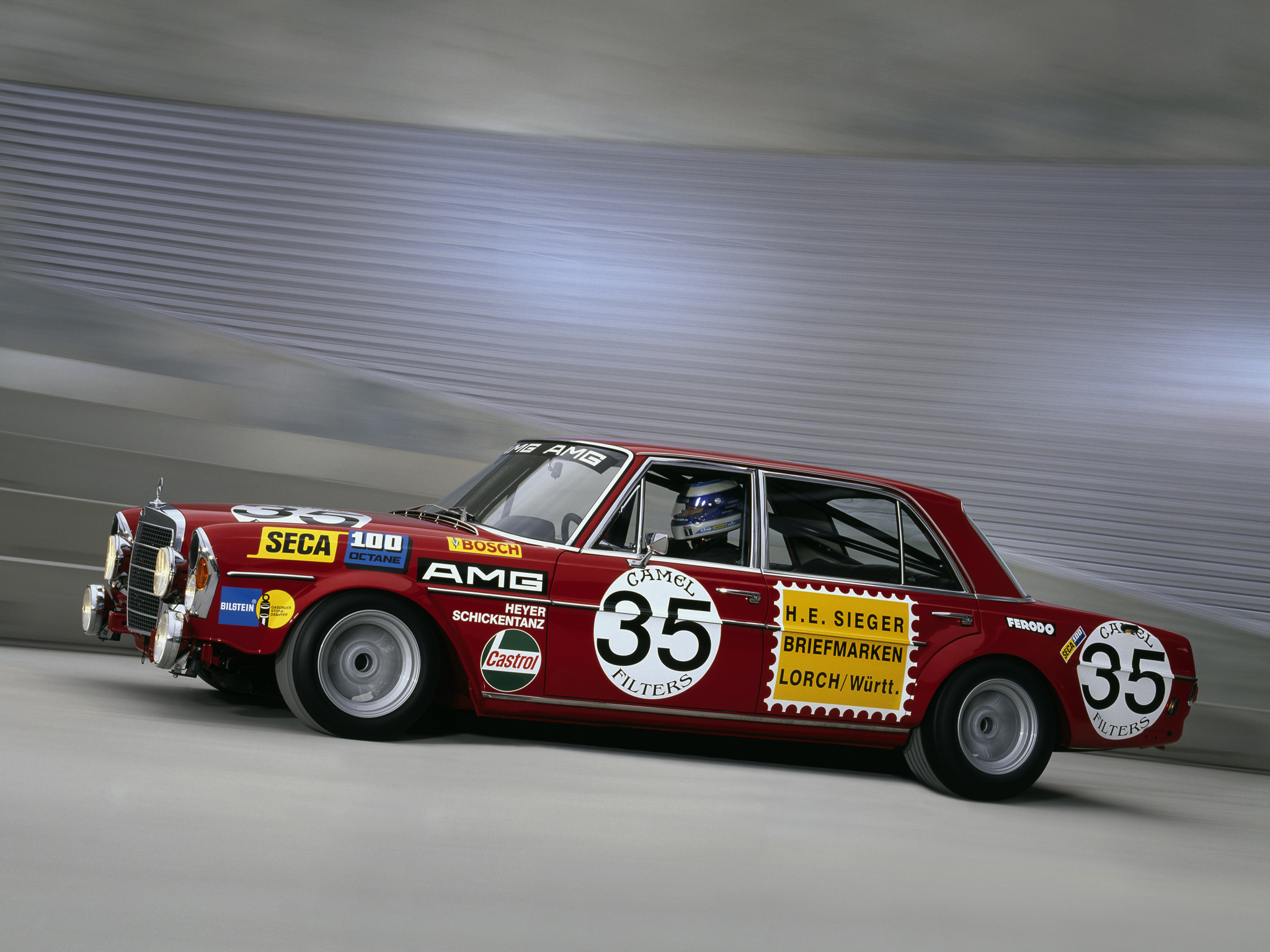 1971 mercedes benz amg 300 sel 6 3 race car w109 racing f for Mercedes benz race