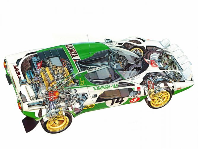 1972 Lancia Stratos Group-4 race racing interior engine r wallpaper