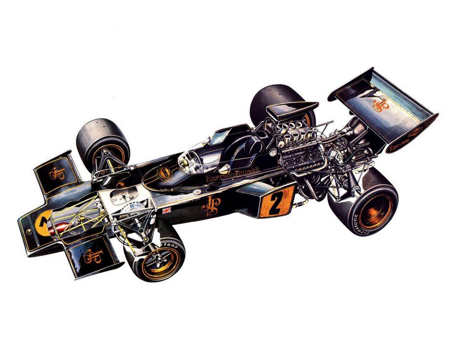 1972 Lotus 72D formula one f-1 race racing engine        h wallpaper