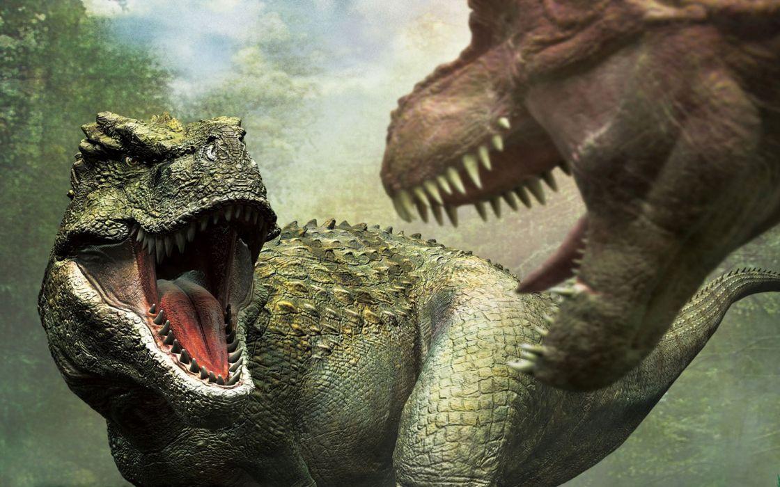 battle predators teeth dinosaur wallpaper