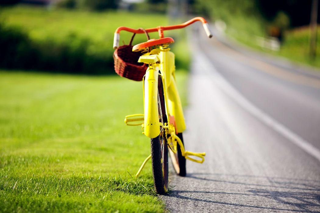 bike yellow vintage wallpaper