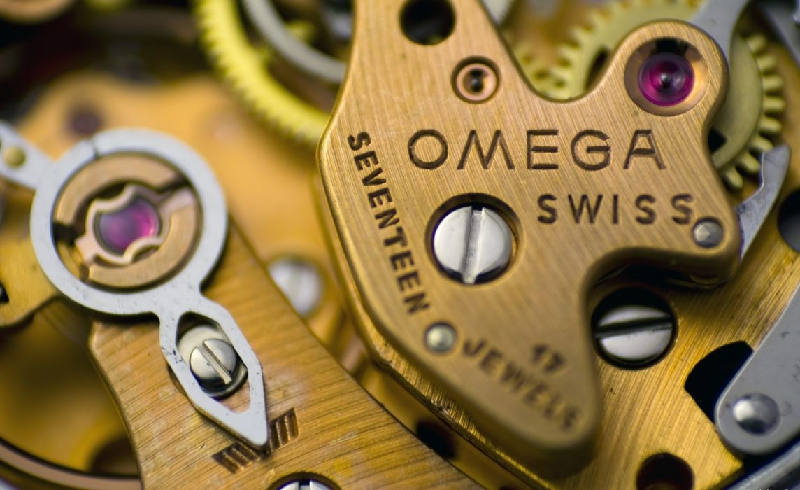 mechanism watch Omega gears steampunk wallpaper