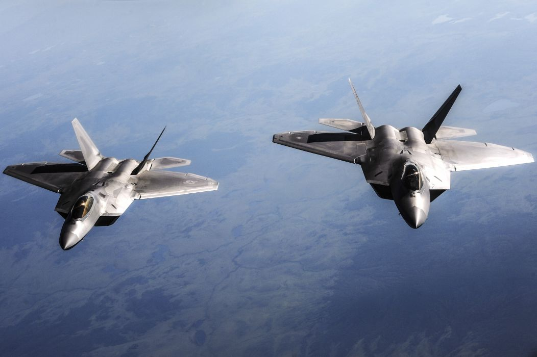 f-22 raptor aircraft sky jet militry wallpaper