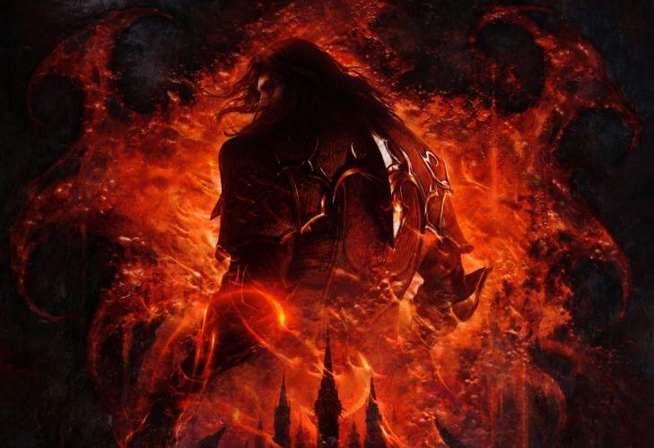 Castlevania Lords of Shadow Men Human back Games Fantasy warrior wallpaper